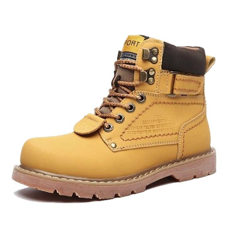 Men Leather ankle Boots Trekking Outdoor genuine Leather Warm Snow Martin Cowboy boots Men Zapatos Sapatas Botas Masculinas //Price: $64.99 & FREE Shipping //     #freeshipping