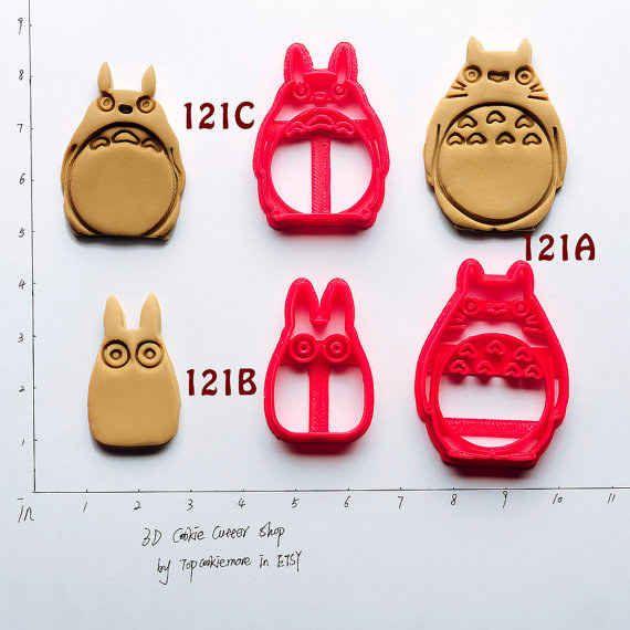 Este molde de galletas de Totoro ($7.80).