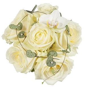 Brudepikebukett i hvit