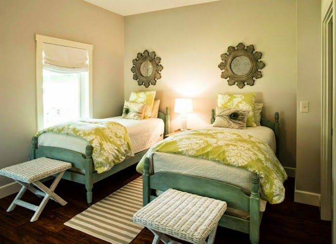 391 best Cute Twin Bedrooms images on Pinterest | Guest bedrooms ...