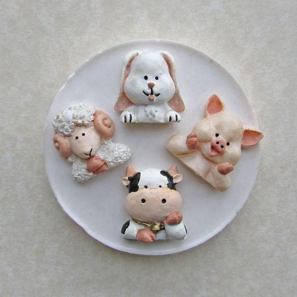 333. Animali da fattoria. Stampo silicone.  di My Candy Moulds su DaWanda.com