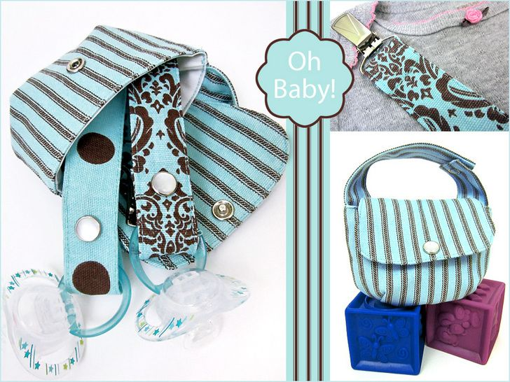 Oh Baby! with Fabric.com: Pacifier Lanyard and Carrying Pouch | Sew4Home