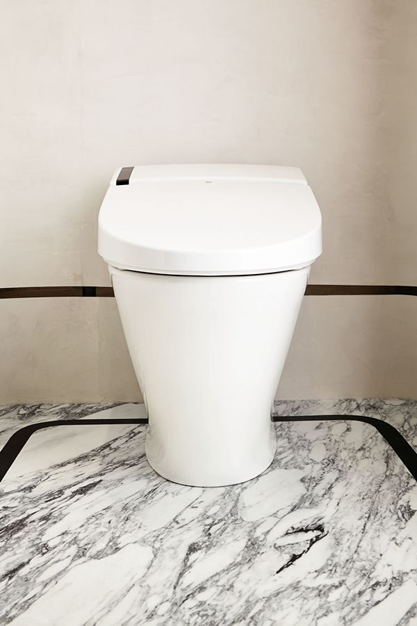 the sleek presence of the at200 spalet integrated bidet toilet belies its many high tech