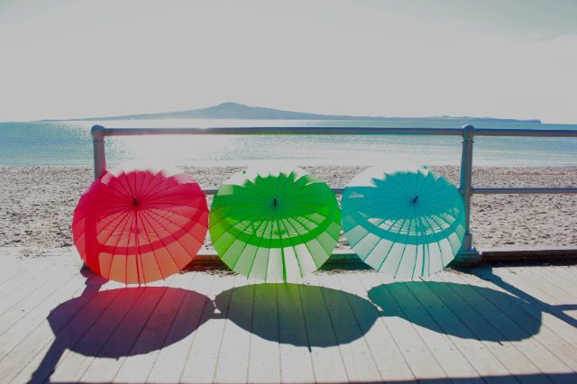 Coloured Umbrellas http://www.recline.co.nz/store/weekend-away/coloured-umbrella.html