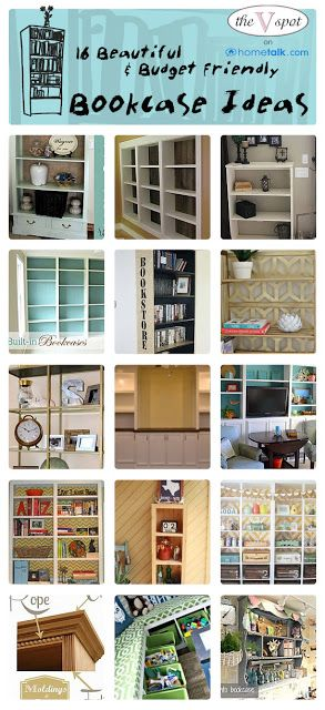 16 Beautiful & Budget Friendly Bookcase Ideas   {curated by 'The V Spot' blog!}