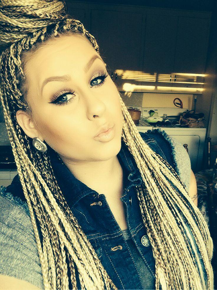 Blonde Box Braids Beautiful Hair Makeup And Hair
