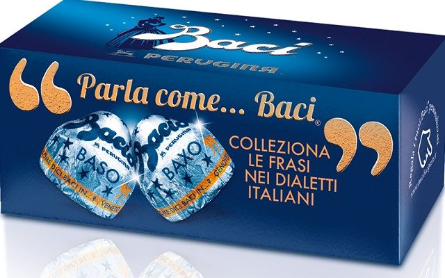 Baci chocolates, literally translating as 'kisses', are an Italian icon - and now the sweets are celebrating the country's dialects.