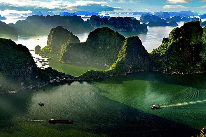 Take seaplane around Halong Bay coastline, Vietnam