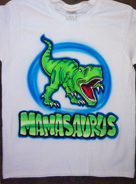 fde93f66d Airbrushed T Rex Dinosaur Custom T-shirt * Baby Bodysuit * Hooded Sweatshirt  * Hoodie * Pillowcase *   Products in 2019   Airbrush t shirts, Shirts, ...