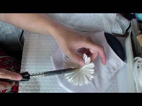 ▶ Как сделать ромашку из ткани. Часть 3 - YouTube