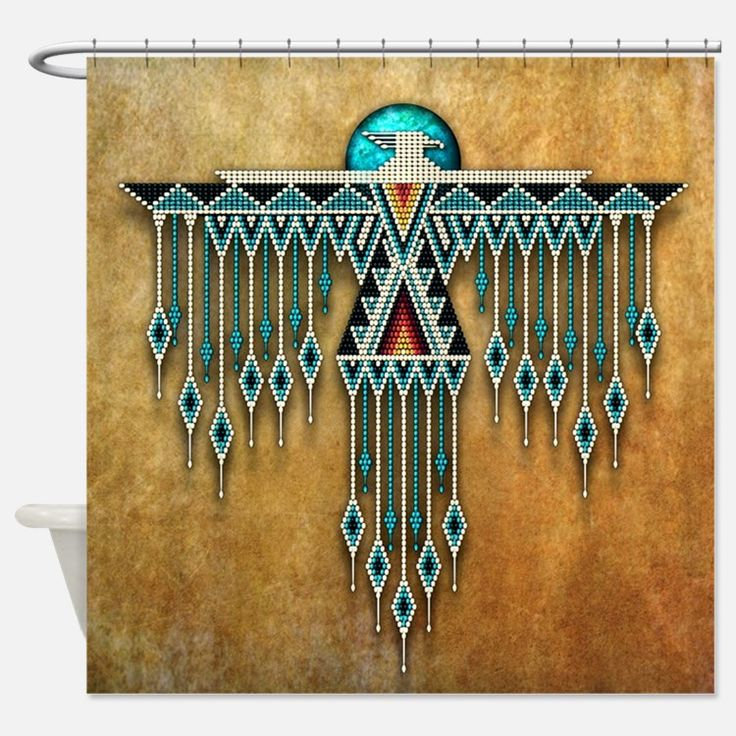 Southwest Native Style Thunderbird Shower Curtain for