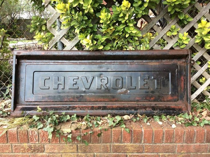 Tailgate - Truck Tailgate - Chevy Tailgate - Chevrolet Tailgate - Antique Tailgate - Rusty Tailgate - Chevy - Chevrolet - Man Cave - Rustic by MyHailiesHaven on Etsy