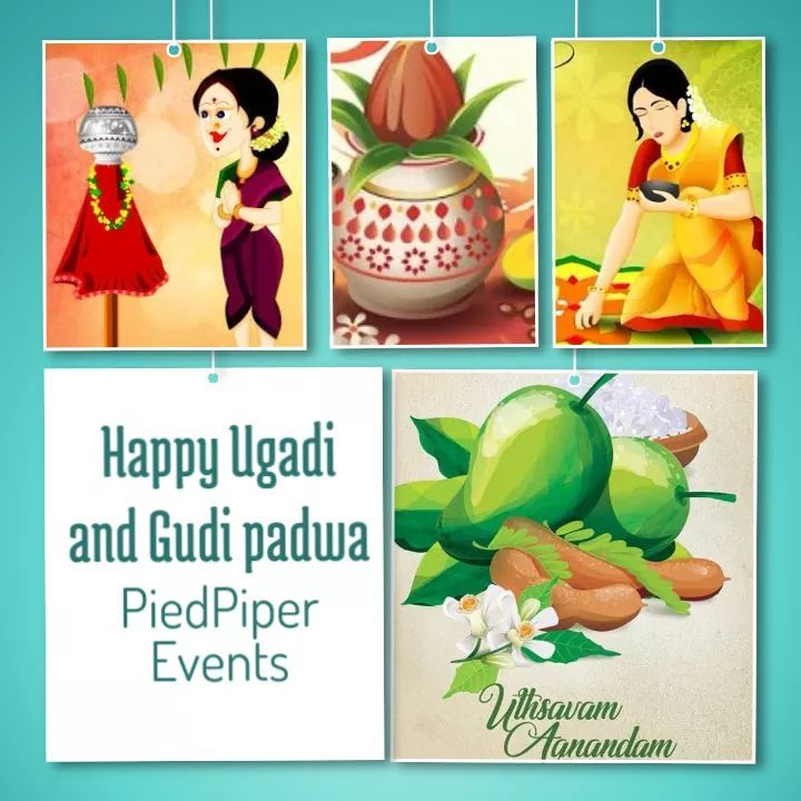 Piedpiperevents wishes everyone happy Ugadi!! #NewYear #NewBeginnings #Happiness #joy #fulfillment #celebrations.