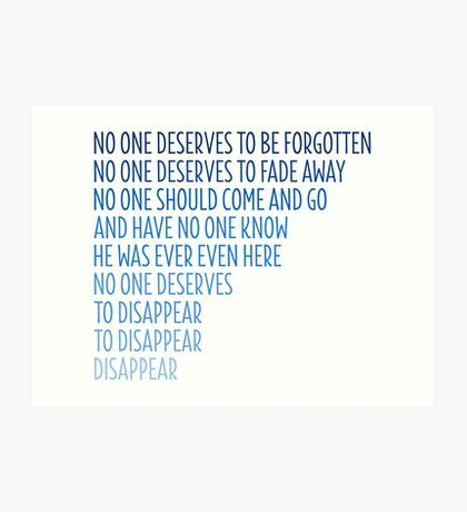 Dear Evan Hansen: Disappear Art Print
