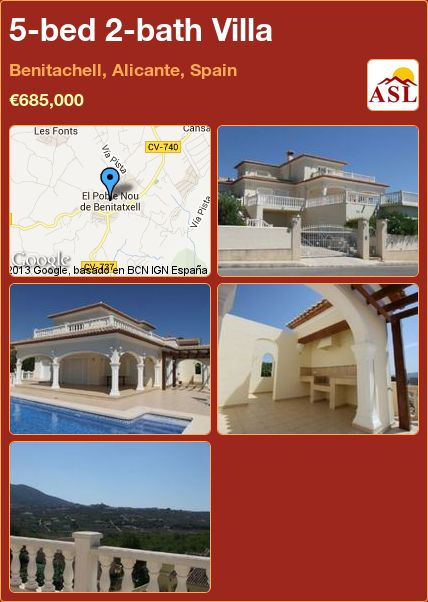 5-bed 2-bath Villa in Benitachell, Alicante, Spain ►€685,000 #PropertyForSaleInSpain
