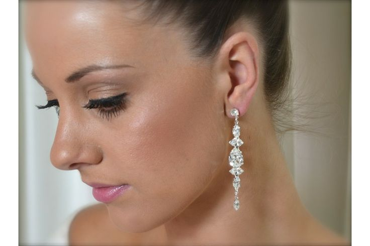 Bridal Earrings! Stunning Swarovski Crystal Earrings. Individually hand set in a bright silver setting for added shine! Now at LaSposina Sydney. $165
