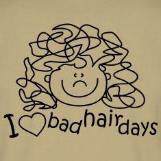 Me encantan los días de pelo malo, me encanta, el pelo, peinado, corte de pelo frsör, tijeras, salón, peine de spray para el cabello, peine, cepillo, secador de pelo, campana seca, de onda continua, fisier, peluquería, Azubi, bonito, estilo, feoCamisetas polo .