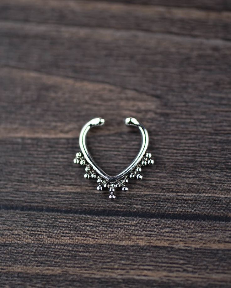 Silver Faux Septum Ring