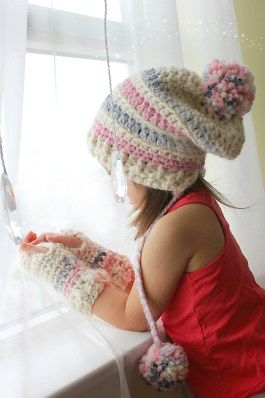 My crochet Hat and Gloves set