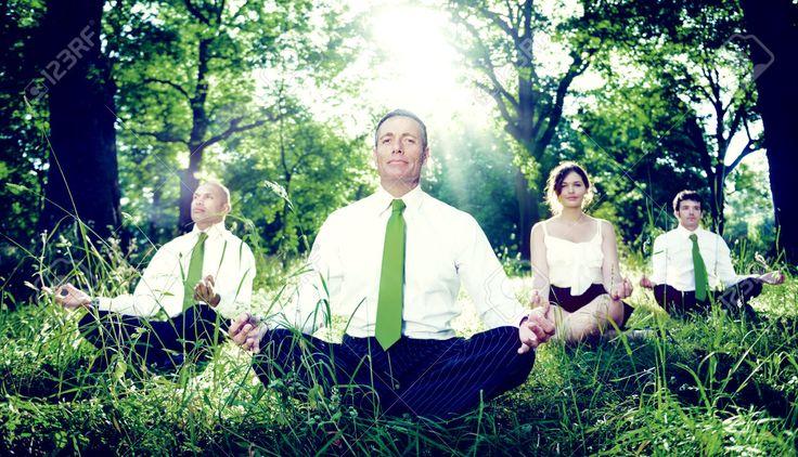 Green Business Team Meditatie Contemplatie Concept Royalty-Vrije Foto, Plaatjes, Beelden En Stock Fotografie. Image 46748142.