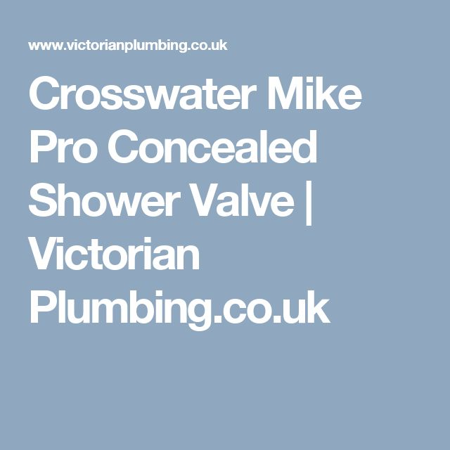 Crosswater Mike Pro Concealed Shower Valve | Victorian Plumbing.co.uk