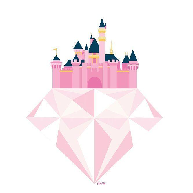 Disneyland Castle illustration by Ashley Taylor! #Disneyland60 #Disneyland…