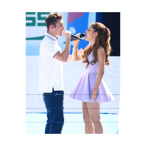 Nathan Sykes Opens Up About His Relationship With Ariana Grande! ❤ liked on Polyvore featuring ariana grande, people, couples and fotos