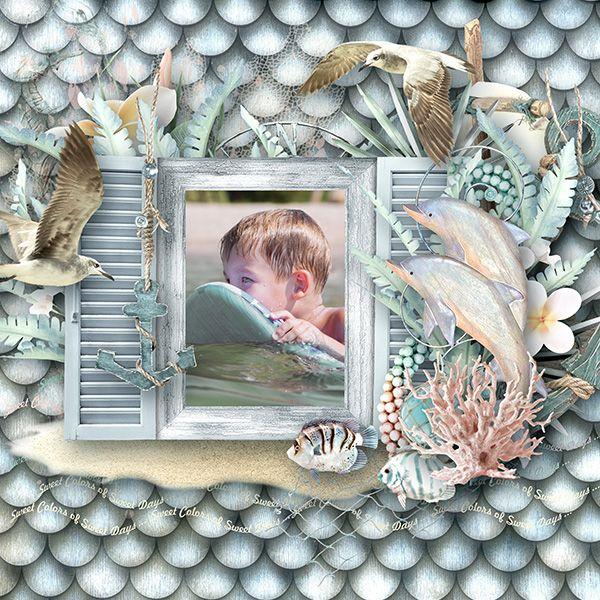 """collection """"Ocean Dawn"""" by Doudou's Design"""