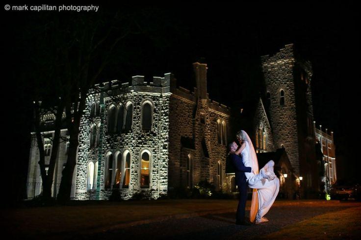 Kilronan Castle Ireland bride & groom portrait at night wedding photographer sligo