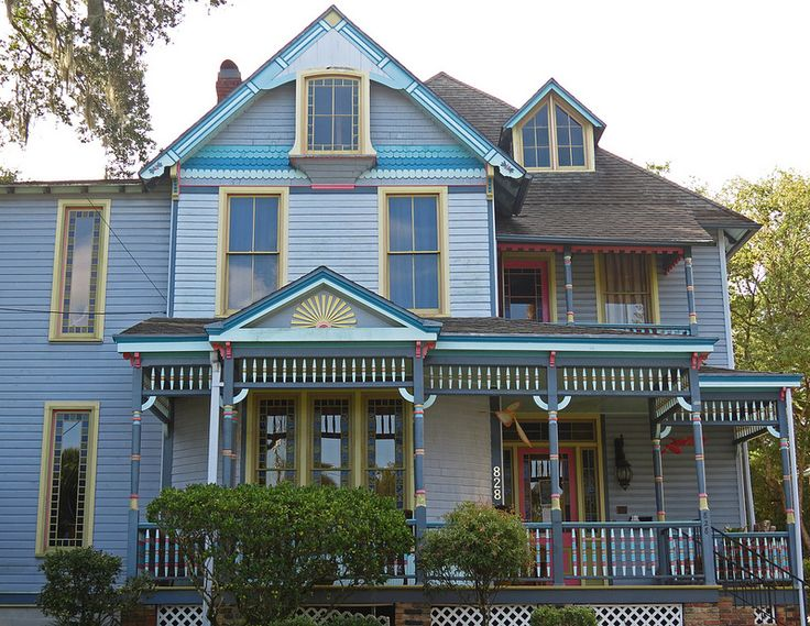 victorian painted lady porch - photo #13