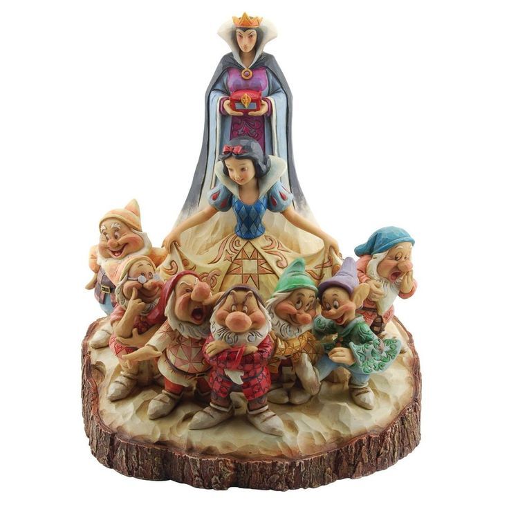JIM SHORE DISNEY TRADITIONS WOOD CARVED SNOW WHITE SEVEN ...