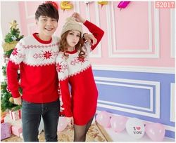 Online Shop Retail! Red&white quality mens/womens Christmas sweater couples matching christmas sweaters for lovers kit/kitted fitted sweater|Aliexpress Mobile