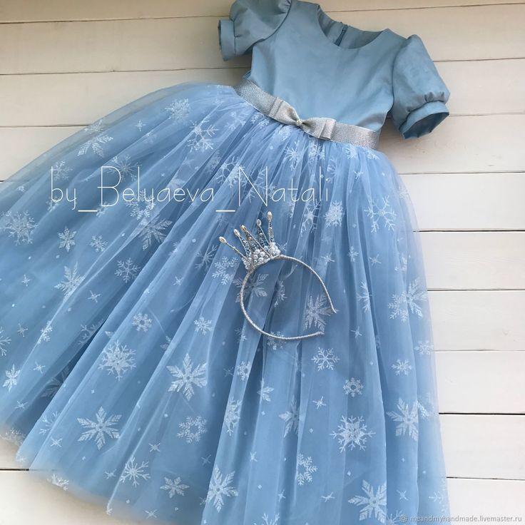 Купить или заказать Новогоднее платье для принцессы в интернет магазине на Ярмарке Мастеров. С доставкой по России и СНГ. Срок изготовления: 2 недели. Материалы: хлопок 100%, фатин, еврофатин. Размер: Любые