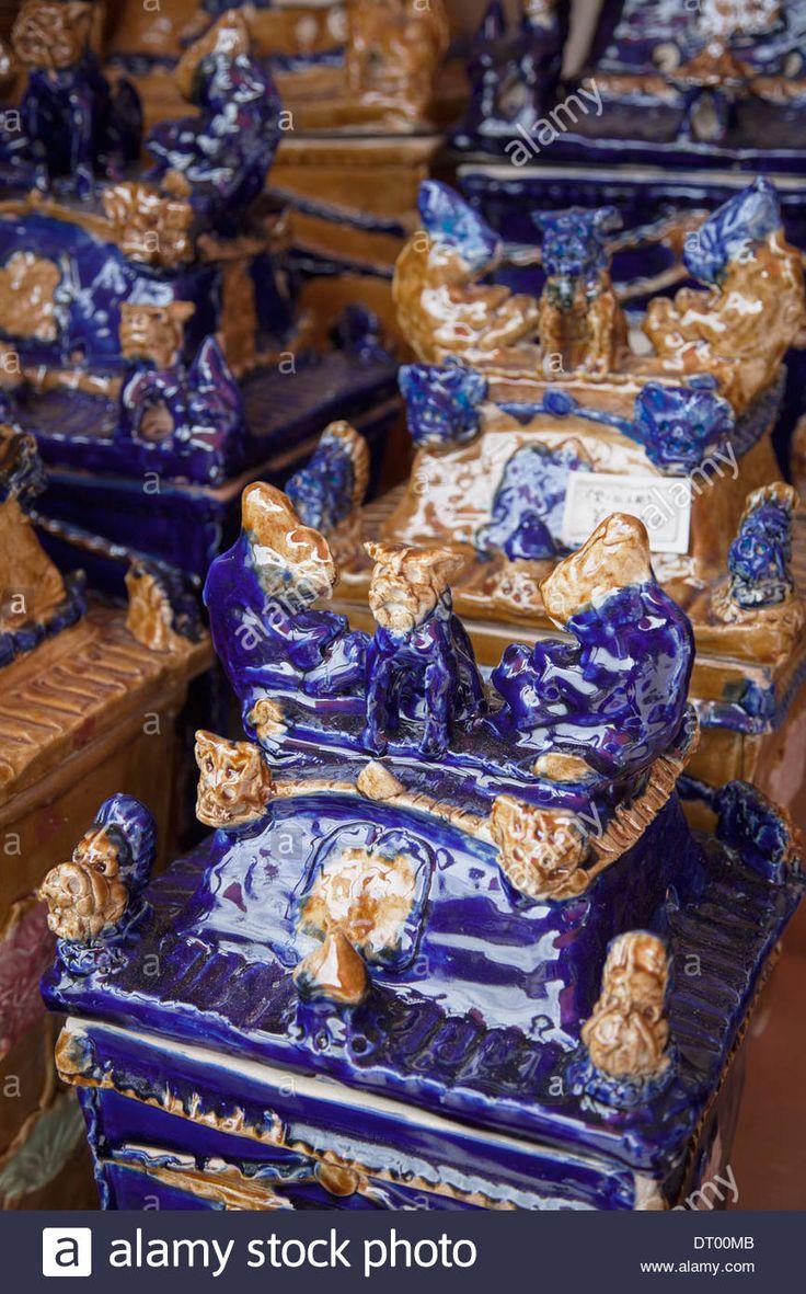Porcelain Burial Urns In Tsuboya Pottery Village, Naha, Okinawa Stock Photo, Royalty Free Image: 66383419 - Alamy