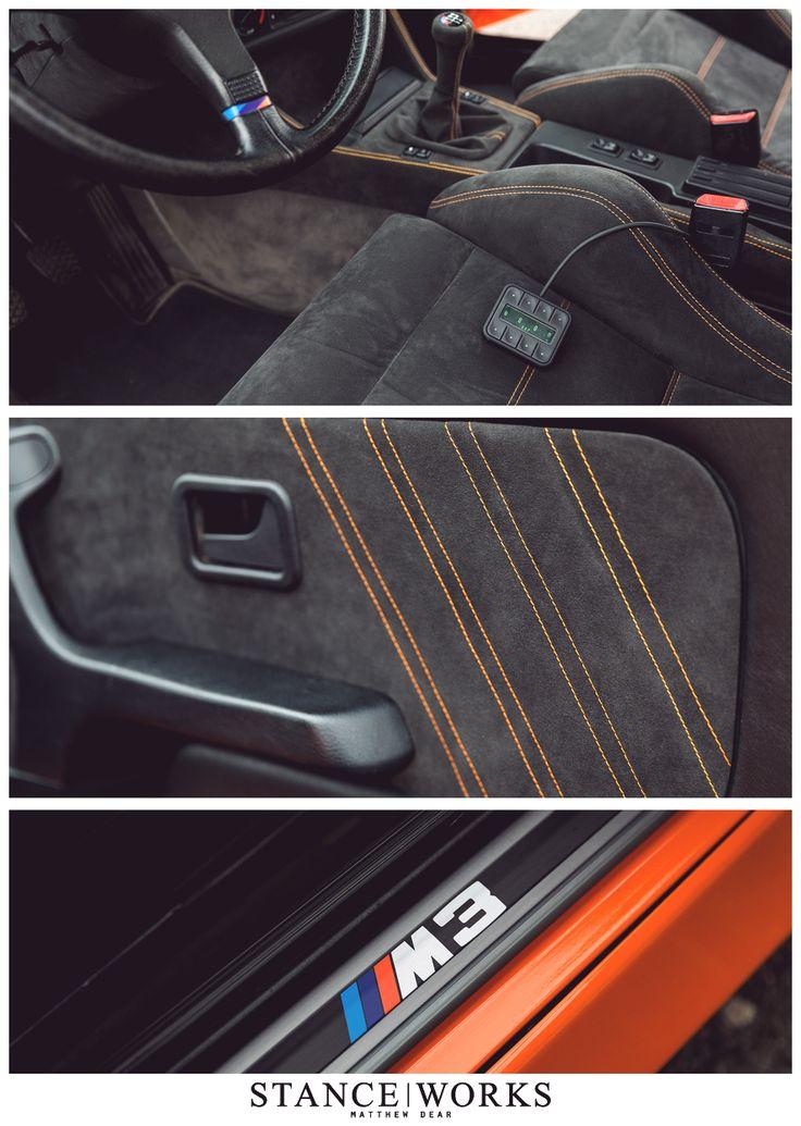 orange e30 interior