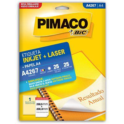 Etiqueta ink-jet/laser A4 288,5x200,0 267 Pimaco - Envelopes, Etiquetas & Formulários - Kalunga.com
