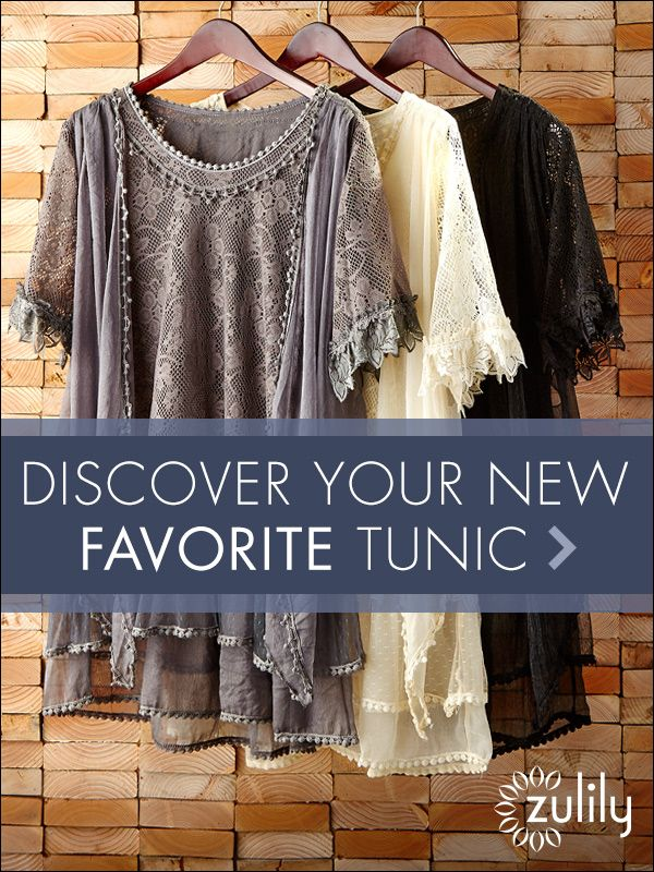 Sign up today to discover Stylish Tunics at prices up to 70% Off! Huge selection with new styles added each and every day! Build your comfy-cozy wardrobe at zulily.com!