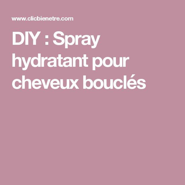 DIY : Spray hydratant pour cheveux bouclés