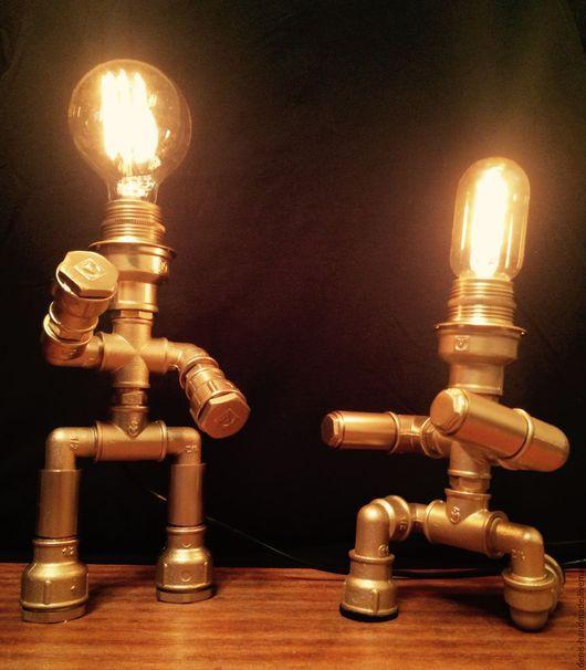 Освещение ручной работы. Ярмарка Мастеров - ручная работа. Купить светильник в стиле лофт. Handmade. Лофт, лампа эдисона