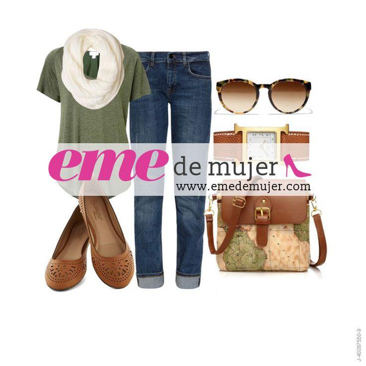 Hoy viernes decide vestirte cómoda pero muy cool ¡como en este #OutfitEme!, solo necesitas unos jeans, una bufanda, una franela unicolor, unas lindas zapatillas y unas gafas de sol. Para saber más de moda y ser toda una fashionista entra en nuestra página web http://ve.emedemujer.com/moda/