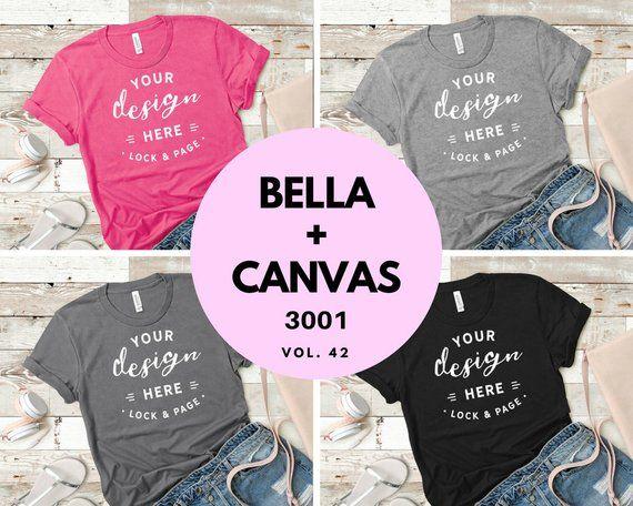 Download Bella Canvas 3001 Bundle T Shirt Mockup Flat Lay Collection Etsy Shirt Mockup Design Mockup Free Mockup