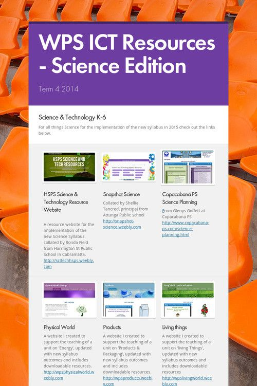 WPS ICT Resources - Science Edition
