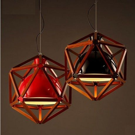 Nordic Loft Style Wooden Iron Droplight LED Vintage Pendant Light Fixtures For Dining Room Hanging Lamp Indoor Lighting
