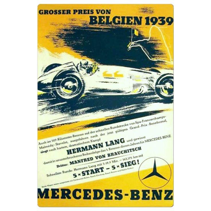 1939: Grosser Preis von Belgien poster. #belgien #grosserpreis #race #motorracing #autosport #auto #autos #mercedes #poster #racing #mercedesbenz #biler #carsport #automobilsport #car #rennwagen #hermannlang #automobilratzer http://unirazzi.com/ipost/1504918739177865443/?code=BTii56whoDj