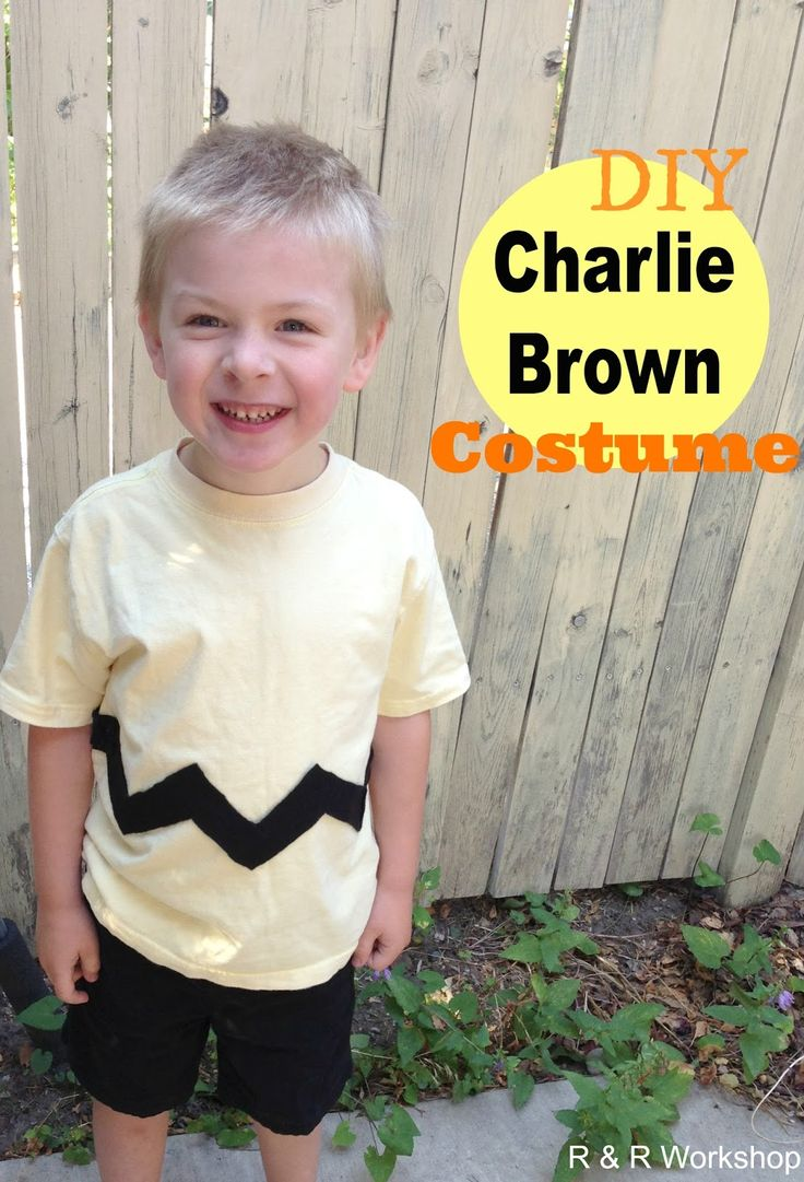 No-sew Charlie Brown Cosume! Simple Halloween Costume idea for kids