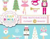 50% off sale Nutcracker clipart Christmas sugar plum fairy, ballet clip art INSTANT DOWNLOAD