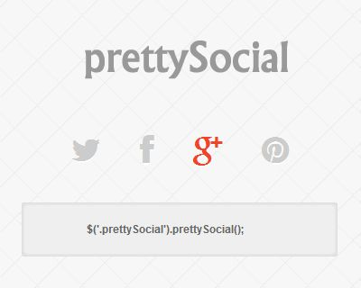 jQuery prettySocial – Custom Social Share Buttons