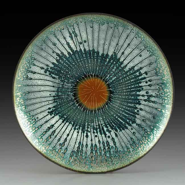The Enamel Arts Foundation - Collection Annemarie Davidson Plate, late 1950s Enamel on copper 5/8 x 5 3/4 in. Signed on base with artist's mark: AD