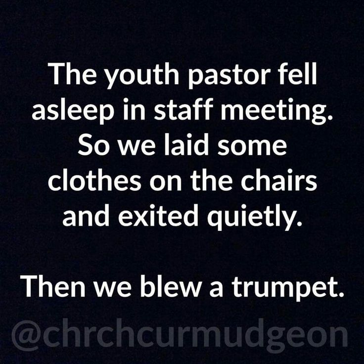 Hilarious Funny Quotes: Youth Pastor Fell Asleep...