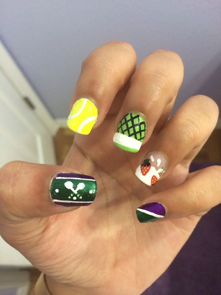 10 best tennis nail art images on pinterest womens cute nails wimbledon tennis nail art prinsesfo Choice Image